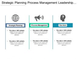 Strategic Planning Process Management Leadership Development Leadership Development Cpb
