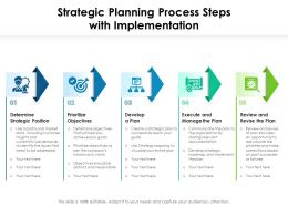 Strategic Planning Process Steps With Implementation