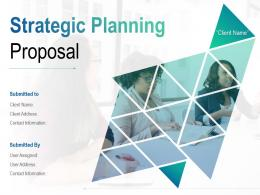 Strategic Planning Proposal Powerpoint Presentation Slides
