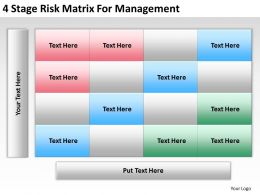 Strategic Planning Risk Matrix For Management Powerpoint Templates PPT Backgrounds Slides 0618