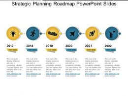 Strategic Planning Roadmap Powerpoint Slides