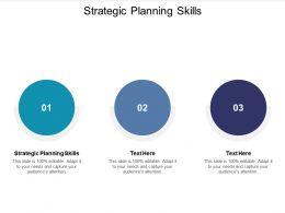 Strategic Planning Skills Ppt Powerpoint Presentation Slides Master Slide Cpb