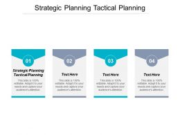 Strategic Planning Tactical Planning Ppt Powerpoint Presentation Slides Demonstration Cpb
