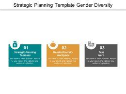 Strategic Planning Template Gender Diversity Workplace Turnaround Business Plan Cpb