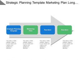 Strategic Planning Template Marketing Plan Long Term Sales Strategy Cpb