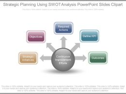 Strategic Planning Using Swot Analysis Powerpoint Slides Clipart