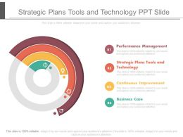 Strategic Plans Tools And Technology Ppt Slide