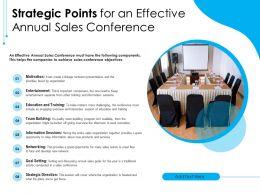 Strategic Points For An Effective Annual Sales Conference