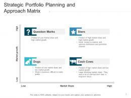 Strategic Portfolio Planning And Approach Matrix