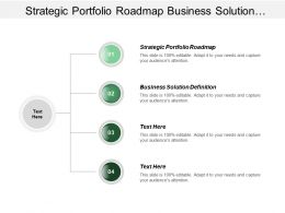 Strategic Portfolio Roadmap Business Solution Definition Monthly Meetings