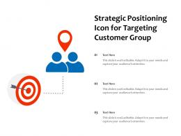 Strategic Positioning Icon For Targeting Customer Group