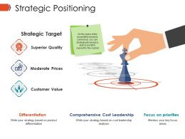 Strategic Positioning Ppt Infographics