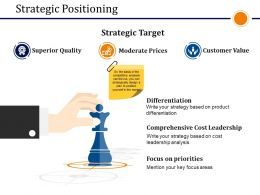 Strategic Positioning Presentation Outline