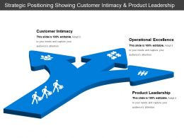 Strategic Positioning Showing Customer Intimacy And Product Leadership