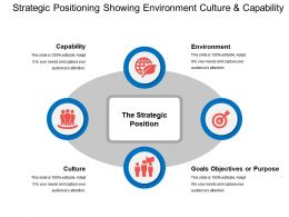 Strategic Positioning Showing Environment Culture And Capability