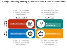 Strategic Positioning Showing Market Penetration And Product Development