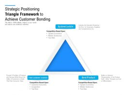 Strategic Positioning Triangle Framework To Achieve Customer Bonding
