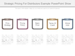 Strategic Pricing For Distributors Example Powerpoint Show