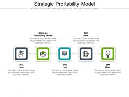 Strategic Profitability Model Ppt Powerpoint Presentation Summary Mockup Cpb
