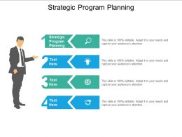 Strategic Program Planning Ppt Powerpoint Presentation Gallery Shapes Cpb