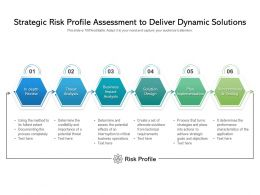 Strategic Risk Profile Assessment To Deliver Dynamic Solutions