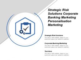 Strategic Risk Solutions Corporate Banking Marketing Personalisation Marketing Cpb