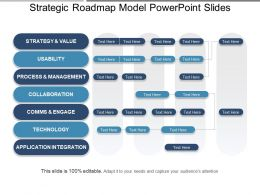 Strategic Roadmap Model Powerpoint Slides