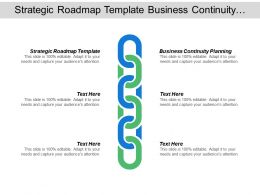 Strategic Roadmap Template Business Continuity Planning Business Planning Checklist