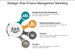 Strategic Role Product Management Marketing Intelligence System Revenue Projection Cpb