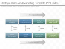 Strategic Sales And Marketing Template Ppt Slides