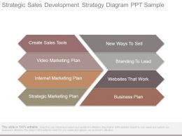 Strategic Sales Development Strategy Diagram Ppt Sample