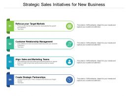 Strategic Sales Initiatives For New Business
