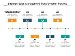 Strategic Sales Management Transformation Portfolio Ppt Powerpoint Design Cpb