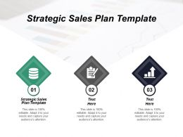 Strategic Sales Plan Template Ppt Powerpoint Presentation Slides Background Cpb