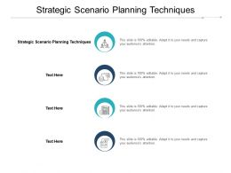 Strategic Scenario Planning Techniques Ppt Powerpoint Presentation Show Vector Cpb