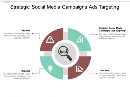 Strategic Social Media Campaigns Ads Targeting Ppt Powerpoint Presentation Slides Ideas Cpb