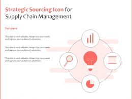 Strategic Sourcing Icon For Supply Chain Management