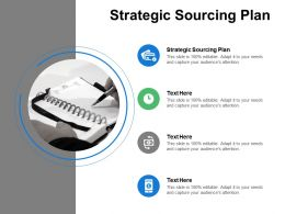 Strategic Sourcing Plan Ppt Powerpoint Presentation Ideas Design Ideas Cpb