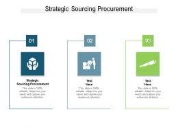 Strategic Sourcing Procurement Ppt Powerpoint Presentation Infographics Maker Cpb