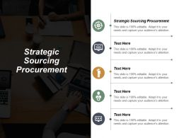 Strategic Sourcing Procurement Ppt Powerpoint Presentation Portfolio Design Templates Cpb
