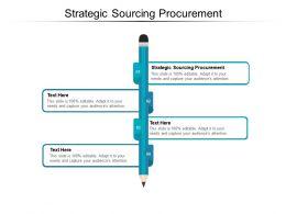 Strategic Sourcing Procurement Ppt Powerpoint Presentation Slides Ideas Cpb