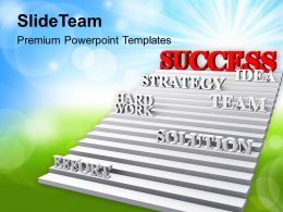 Strategic Stairway Way To Success Powerpoint Templates Ppt Backgrounds For Slides 0213
