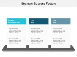 Strategic Success Factors Ppt Powerpoint Presentation Infographic Template Background Images Cpb
