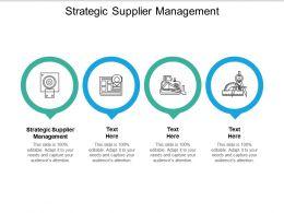 Strategic Supplier Management Ppt Powerpoint Presentation File Deck Cpb
