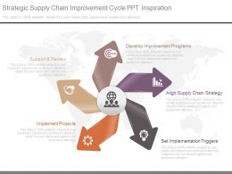 Strategic Supply Chain Improvement Cycle Ppt Inspiration