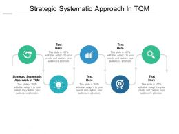 Strategic Systematic Approach In TQM Ppt Powerpoint Presentation Skills Cpb
