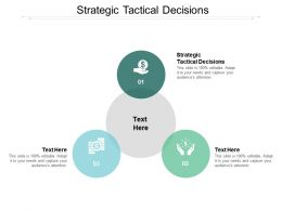Strategic Tactical Decisions Ppt Powerpoint Presentation Gallery Cpb