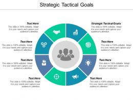 Strategic Tactical Goals Ppt Powerpoint Presentation Layouts Structure Cpb