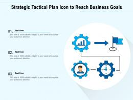 Strategic Tactical Plan Icon To Reach Business Goals