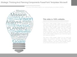 Strategic Thinking And Planning Components Powerpoint Templates Microsoft